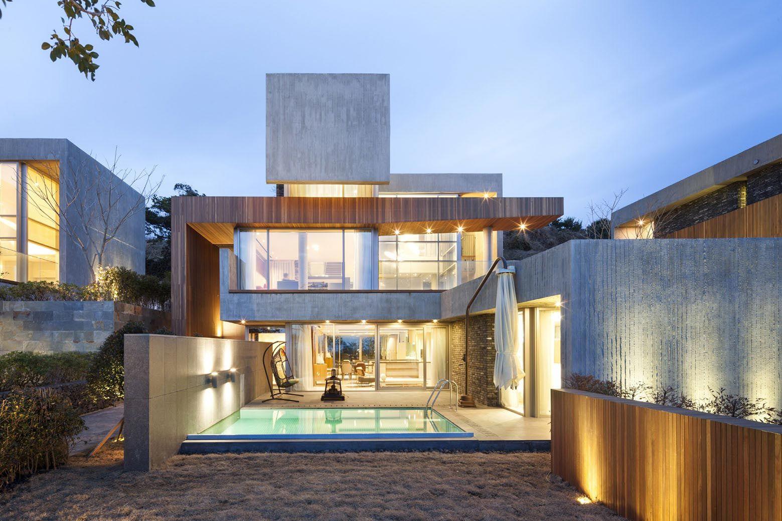 Modern Jeju Bayhill Pool & Villa by L'EAU design + Kim Dong-jin