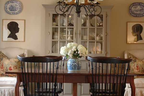 Holly Mathis Interiors  Grey Paint On China Cabinet. Martha Stewart  Flagstone At Home Depot. Tessau0027s Dining Room From Nine And Sixteen.