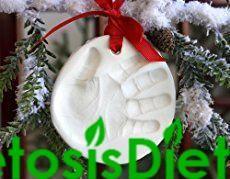 Better Than Salt Dough (Homemade Clay for Ornaments or Handprints) #KetoDiet #KetosisDiet #Ke... #saltdoughornaments