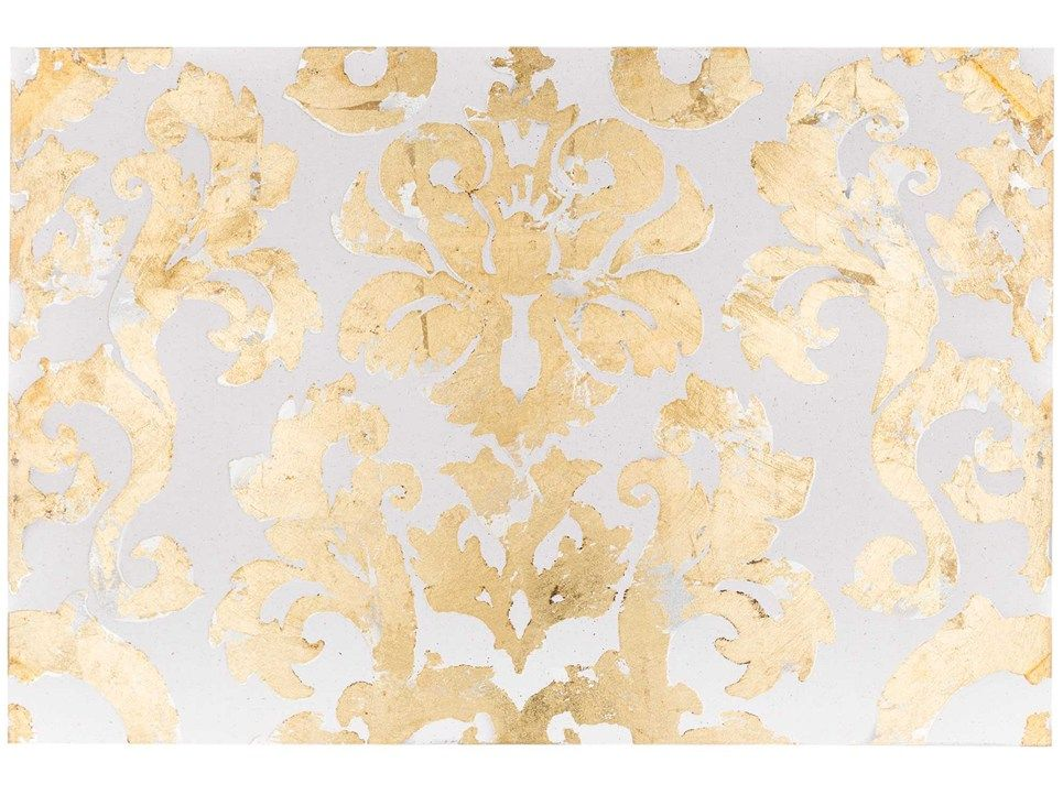 Cream, Silver & Gold Damask Canvas Art | New Apartment | Pinterest ...