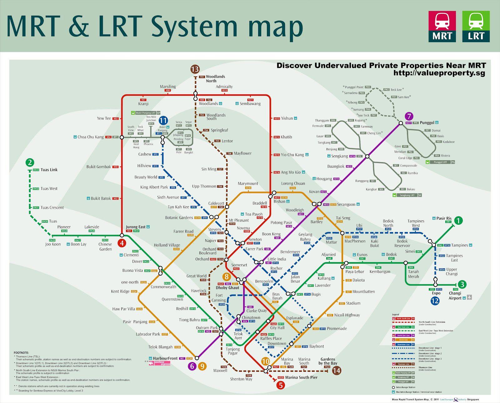 Wonderful 20 Mrt Maps Of Singapore Mrt Network Map