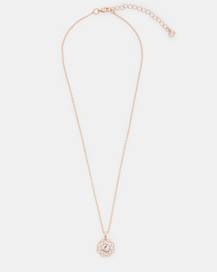 7674884cb Swarovski® daisy lace necklace - Pink | Jewelry | Ted Baker ...