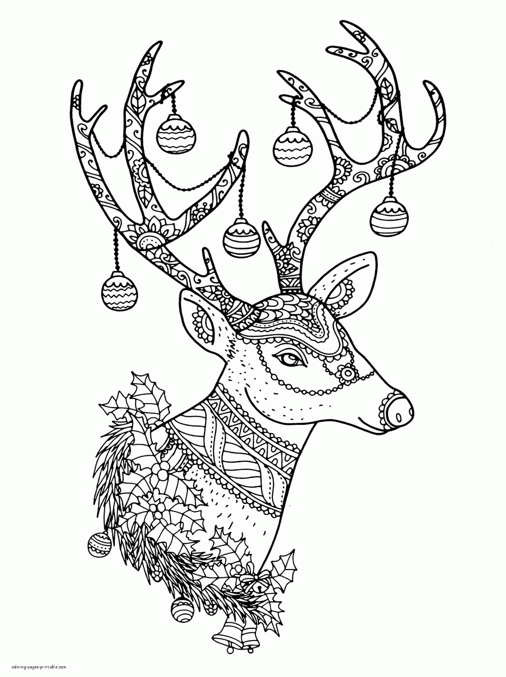Free Christmas Reindeer Colouring Pages For Adults Animal Coloring Pages Christmas Coloring Books Colouring Pages