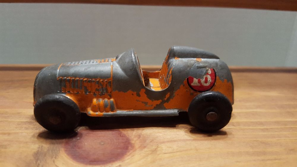 Vintage Die Cast Tootsie Toy Race Car 16 Orange Boat Tail Indy Open Cockpit Tootsietoy Toy Car Toys Car