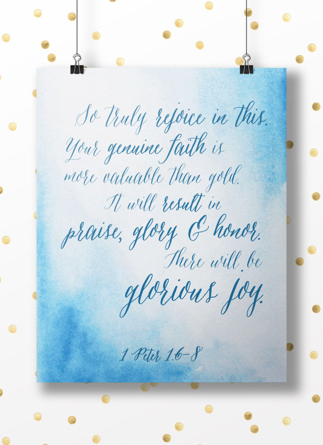 Double This Bible Bible Verses About Joy Esv Bible Verses About Joy Peter Re Will Be Glorious Joy Rejoice Gratitude This Bible Verseart Printable Wall Instant Download Peter Re Will Be Glorious Joy Re
