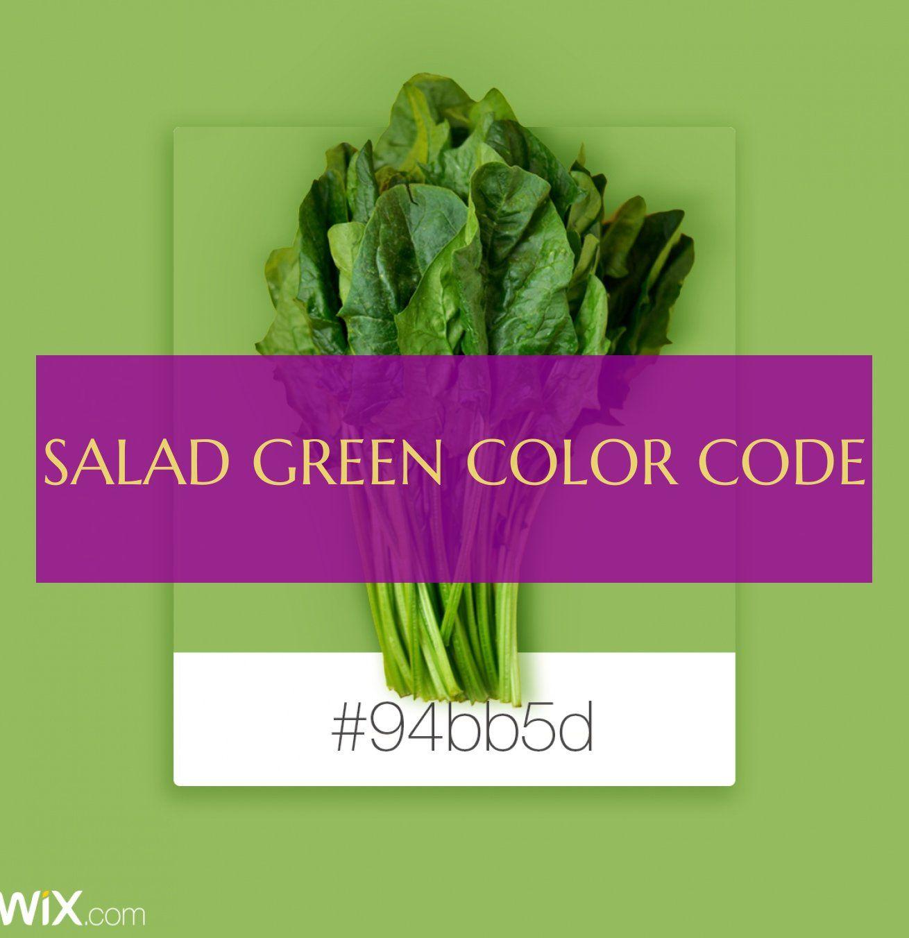 Salat Salad Green Color Code Salat Grun Farbcode With Images