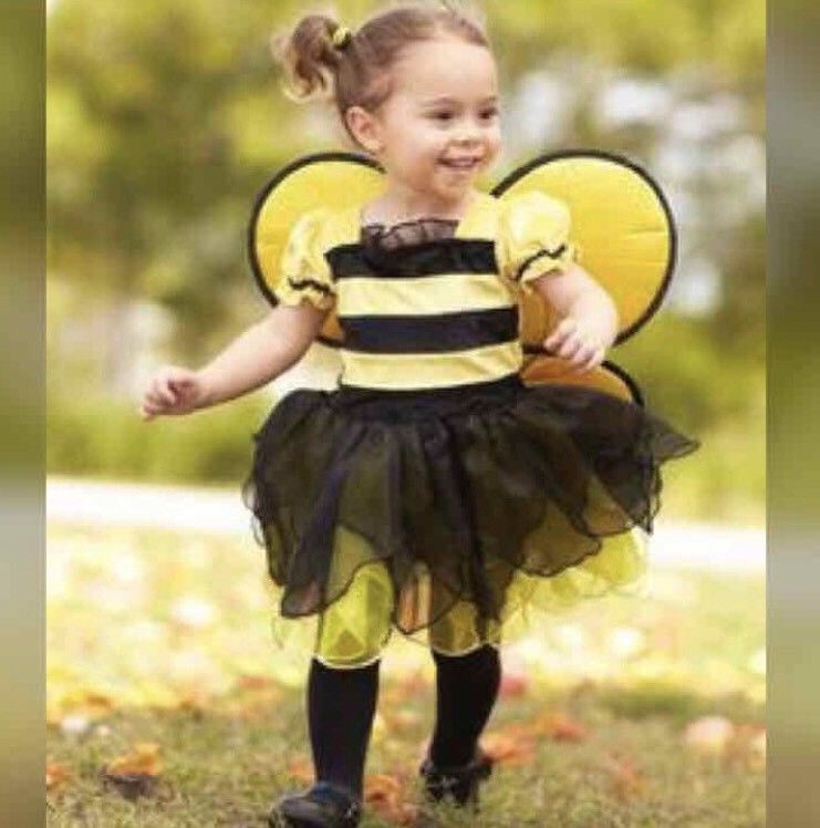 new bumblebee toddler girls halloween costume pretend play dress up size 3t