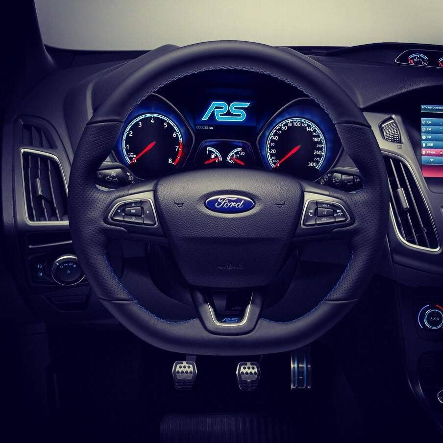 Blue Amazing Interior Of New Ford Focus Rs 2016 Ford Focus