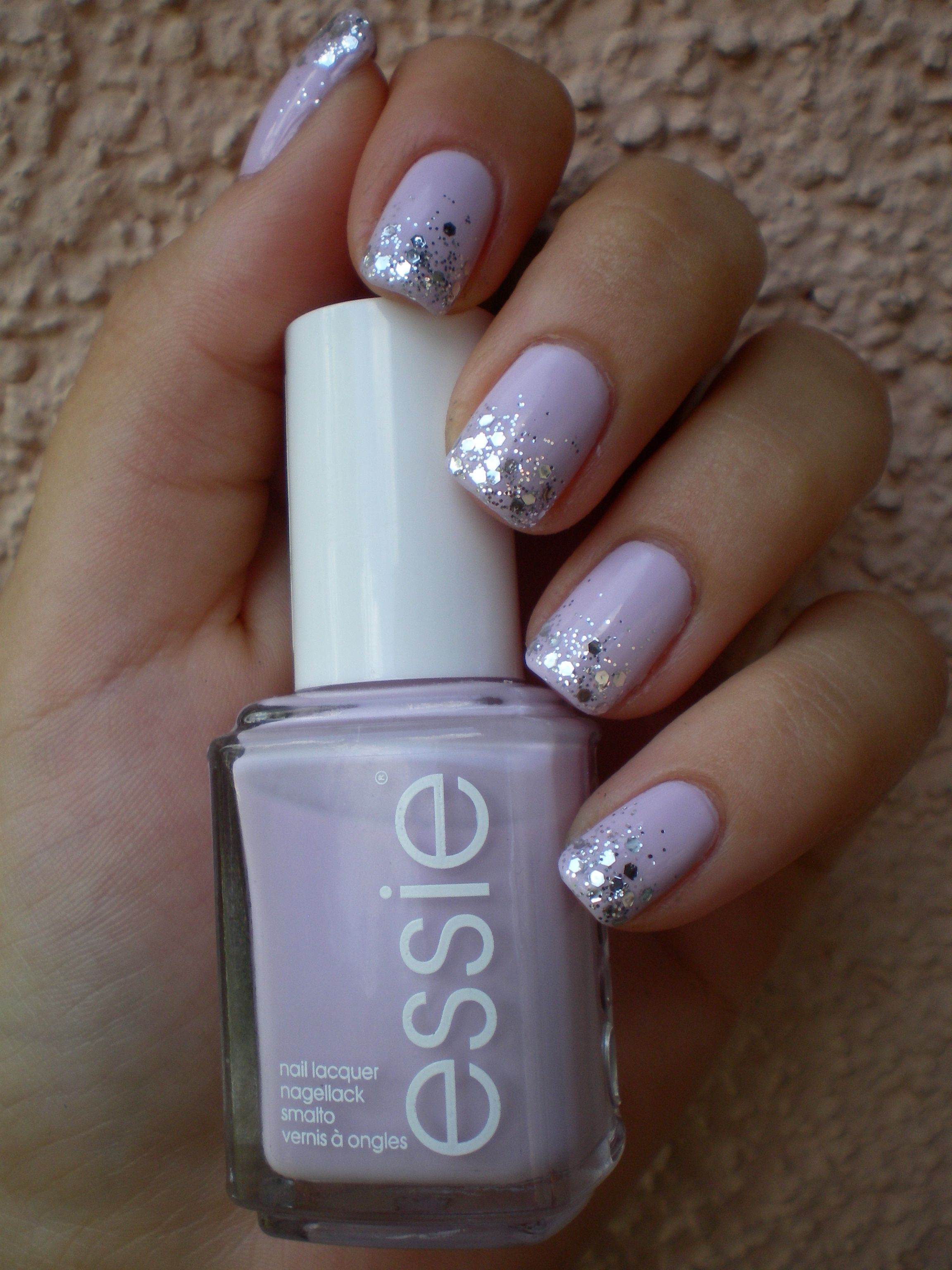 DIY – Easy Glitter Nail Arts | Lavender nails, Lavender nail polish ...