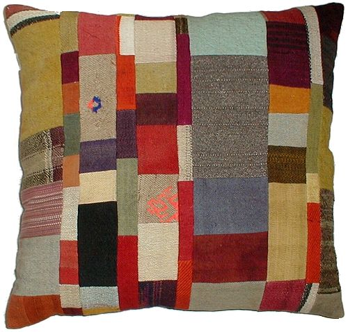 Patchwork cushion (would be lovely in bright felts)