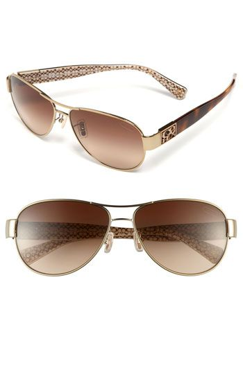 53df4030f8 COACH  Charity  Metal Aviator Sunglasses available at  Nordstrom ...