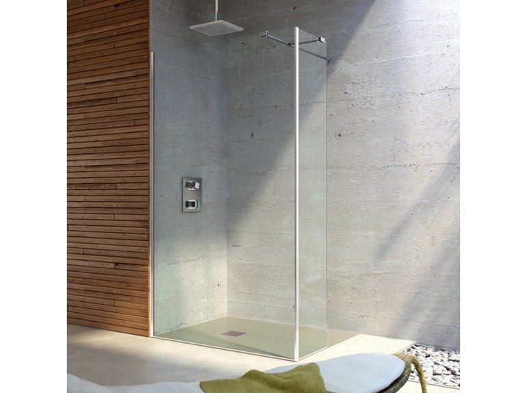 TEMPERED GLASS SHOWER WALL PANEL LEO ITALO COLLECTION BY TDA | DESIGN TDA  PROJECT