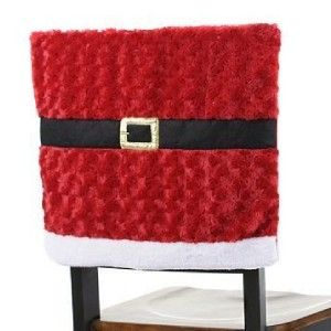 Crochet Christmas Chair Covers Fisher Price 4 In 1 High Large Adorable Santa Suit Cover Darker Red W Black Buckle Dining Easter Set Of Two