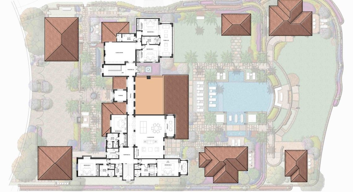 Estate 20 Espiritu Palmilla Bay Los Cabos At Villas Del Mar Luxury House Plans Hotel Floor Plan Hotel Floor