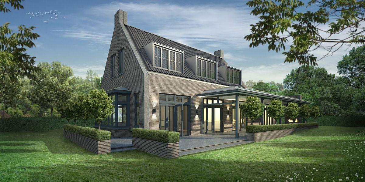 Landelijk eigentijdse woning maren kessel woonhuizen pinterest modern huizen en architectuur - Exterieur ingang eigentijds huis ...