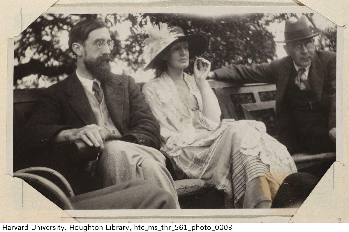 Virginia Woolf - Lytton Strachey, Virginia Woolf, and Goldsworthy Lowes, 1923…