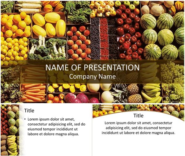 Healthy Food Powerpoint Template  TemplateswiseCom  Food  Drink