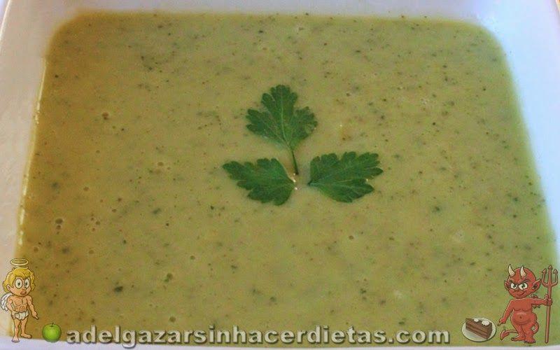 Receta saludable de crema de calabac n bajo en calor as y - Comidas sanas y bajas en calorias ...
