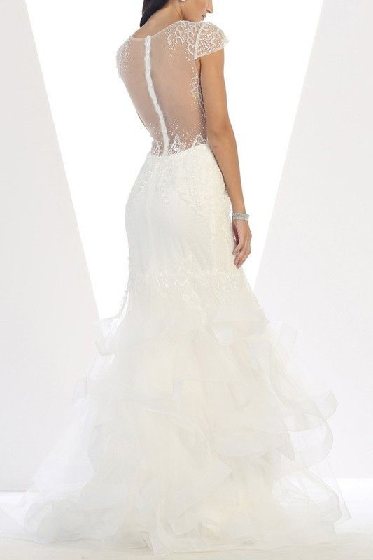Glamorous Mermaid Wedding Dress 100 Rq7454 Closeout
