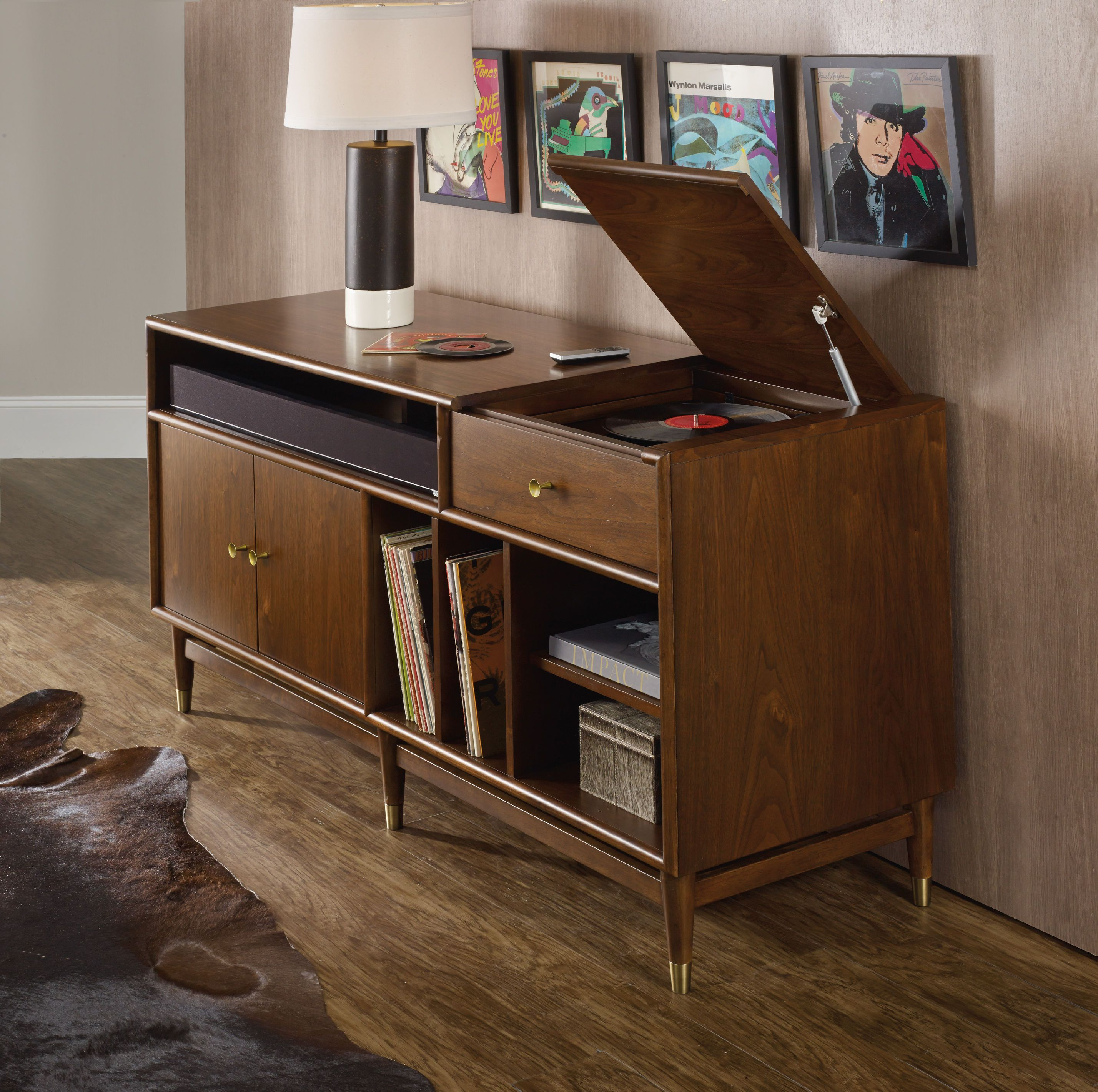 Merveilleux Hooker Furniture Home Entertainment Studio 7H LP Record Player/Gaming  Entertainment Console 5398 55464