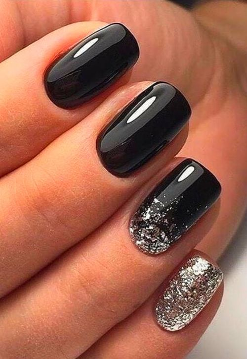 Gel Nails In 2020 With Images Short Square Nails Black Nail Designs Short Gel Nails