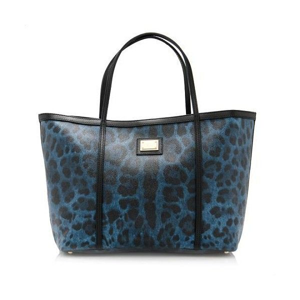 79cbf0a152 Rental Dolce & Gabbana Crespo Leo Tote ($100) ❤ liked on Polyvore featuring  bags, handbags, tote bags, blue, leather purse, blue purse, leather handbags,  ...