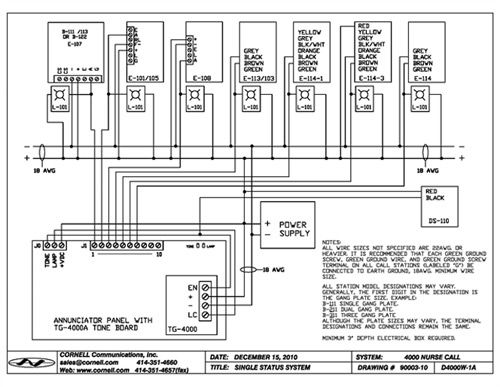 Static Nurse Call System Wiring Diagram