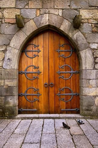 Photo of 'Beautiful Old Wooden Door with Iron Ornaments in a Medieval Castle' Photographic Print – ccaetano | Art.com