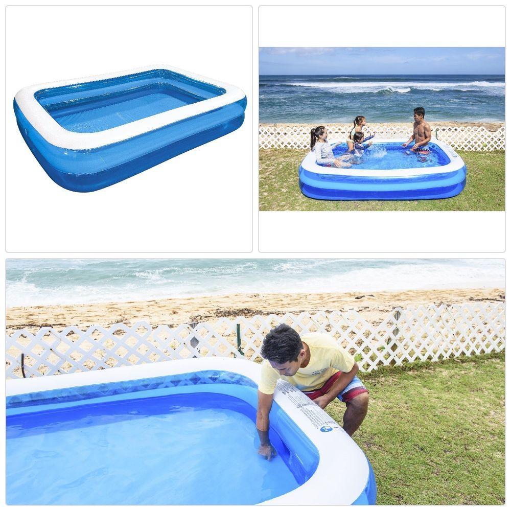 Giant pool rectangular family pool 262x175x50cm with