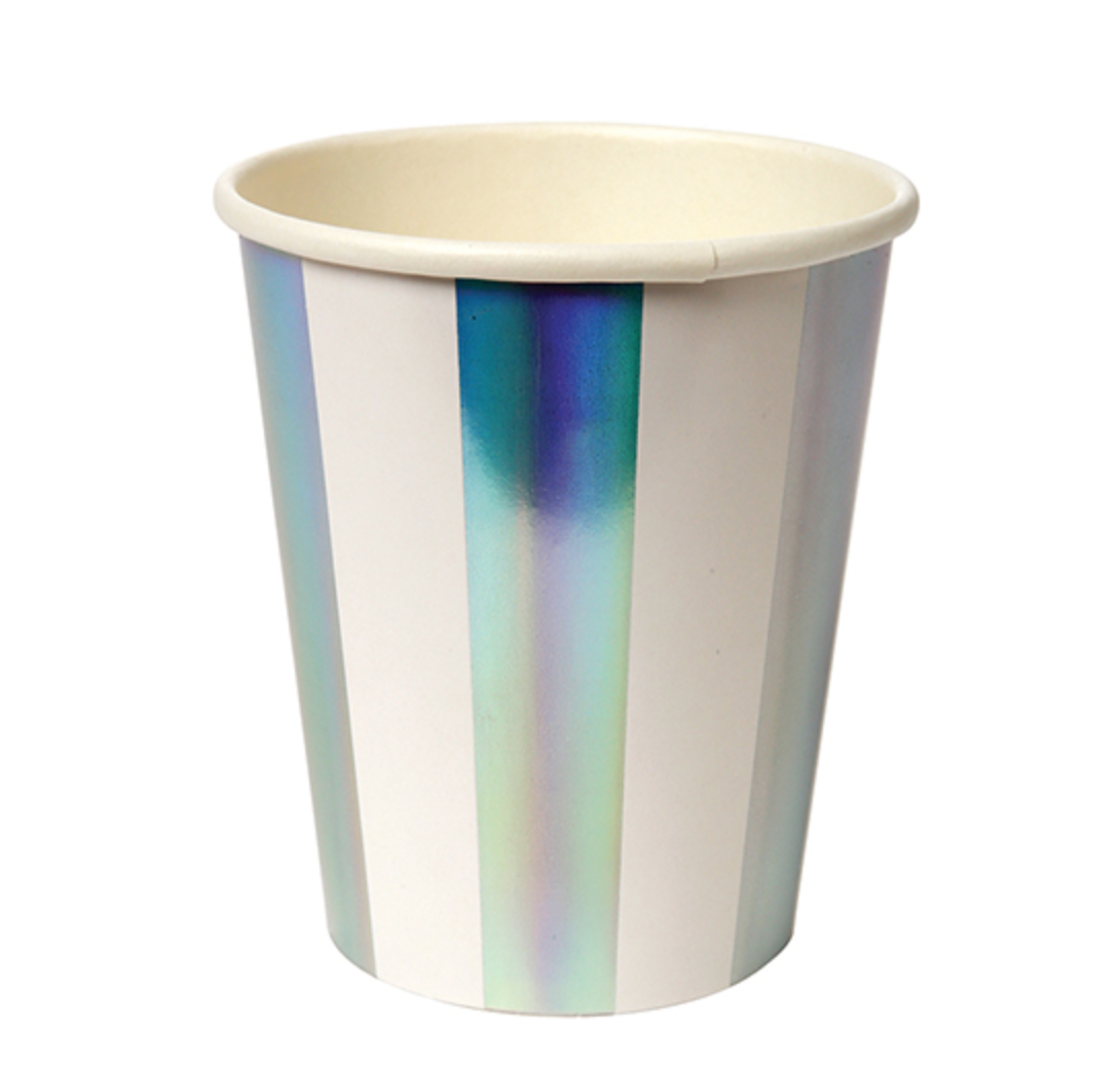 Holographic Silver Cups