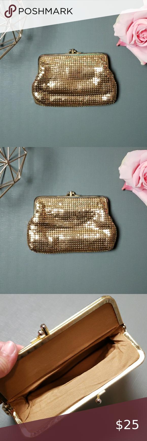 Vintage] La Nuit Fennec Gold Sequined Bag   Sequined, Bags, Gold