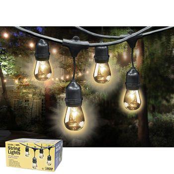 Feit Outdoor Weatherproof String Light Set 48 Ft 24