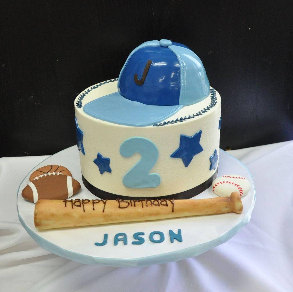 Boys 2nd Birthday Baseball Theme Kidsbaby Shower Cakes