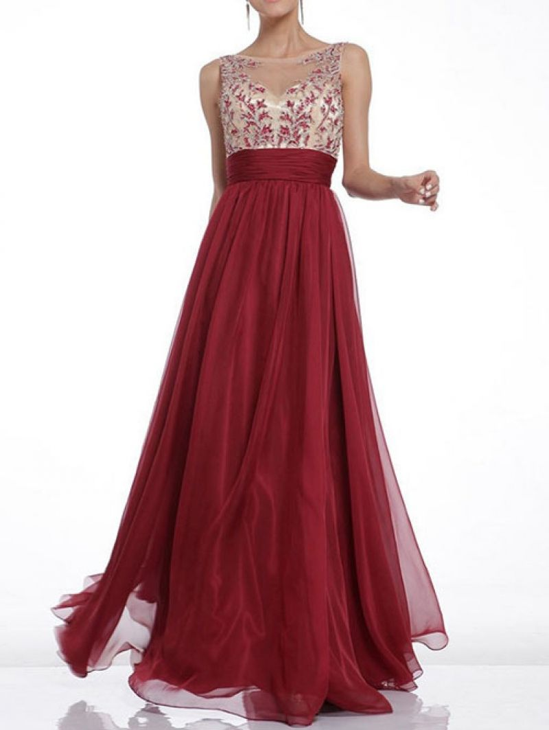 7bcf38aeee Red Sleeveless Backless Mesh Maxi Dress | {The Cardinal Rule} | Prom ...