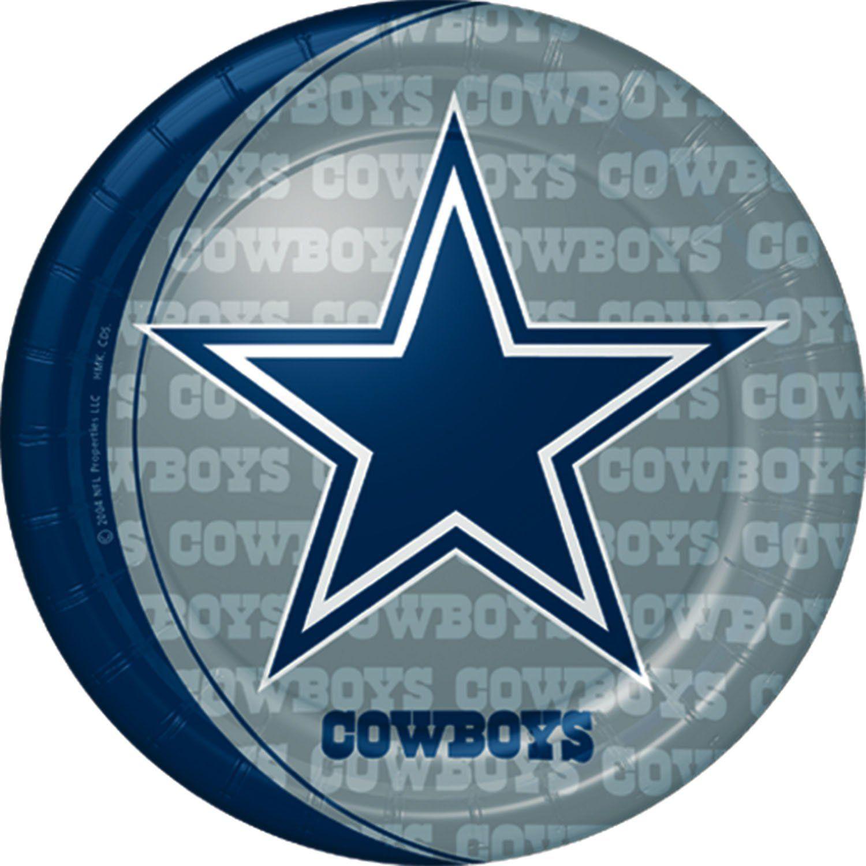 9 Inch Dallas Cowboys Plates from Windy City Novelties  sc 1 st  Pinterest & Dallas Cowboys Dinner Plates | Dallas Cowboy Stuff | Pinterest ...