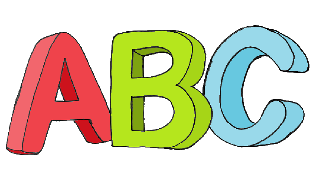 How To Draw Abc 3d Easy Abc 3d Drawing And Coloring For Kids With This How To Video And Step By Step Drawing I Coloring For Kids Drawing Tutorial Abc For Kids
