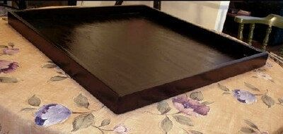 Large 28x28 Dark Brown Ottoman Tray Dining Tables