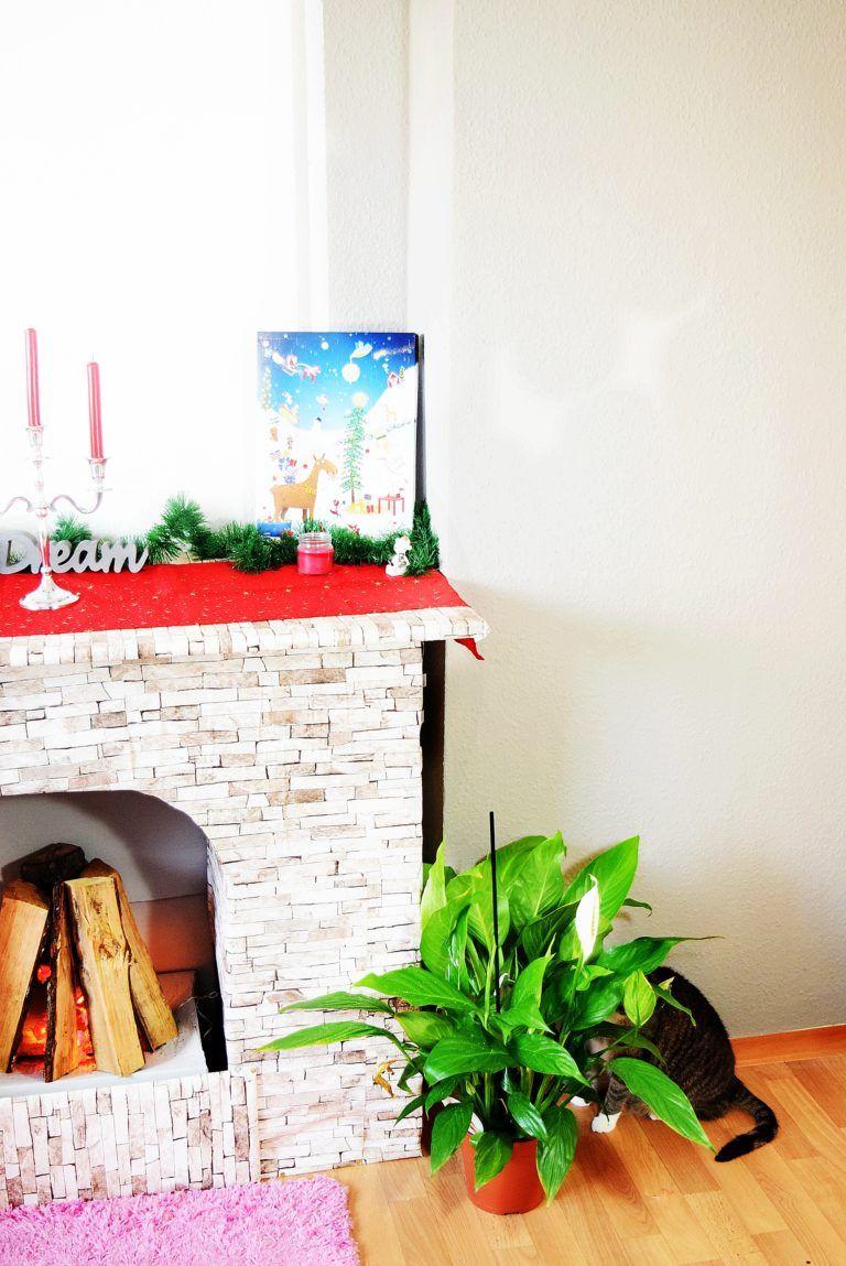 Berühmt Home Story] Dekokamin aus Kartons basteln | Kamin basteln | Karton BB41