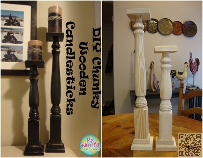 #Table Legs   10 Creative DIY #Candlestick Holders ... →