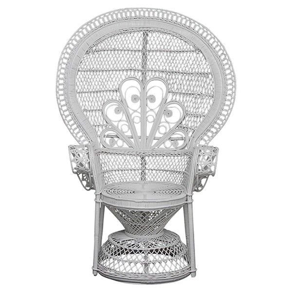 Large White Peacock Chair Outdoor Elegance Temple Webster