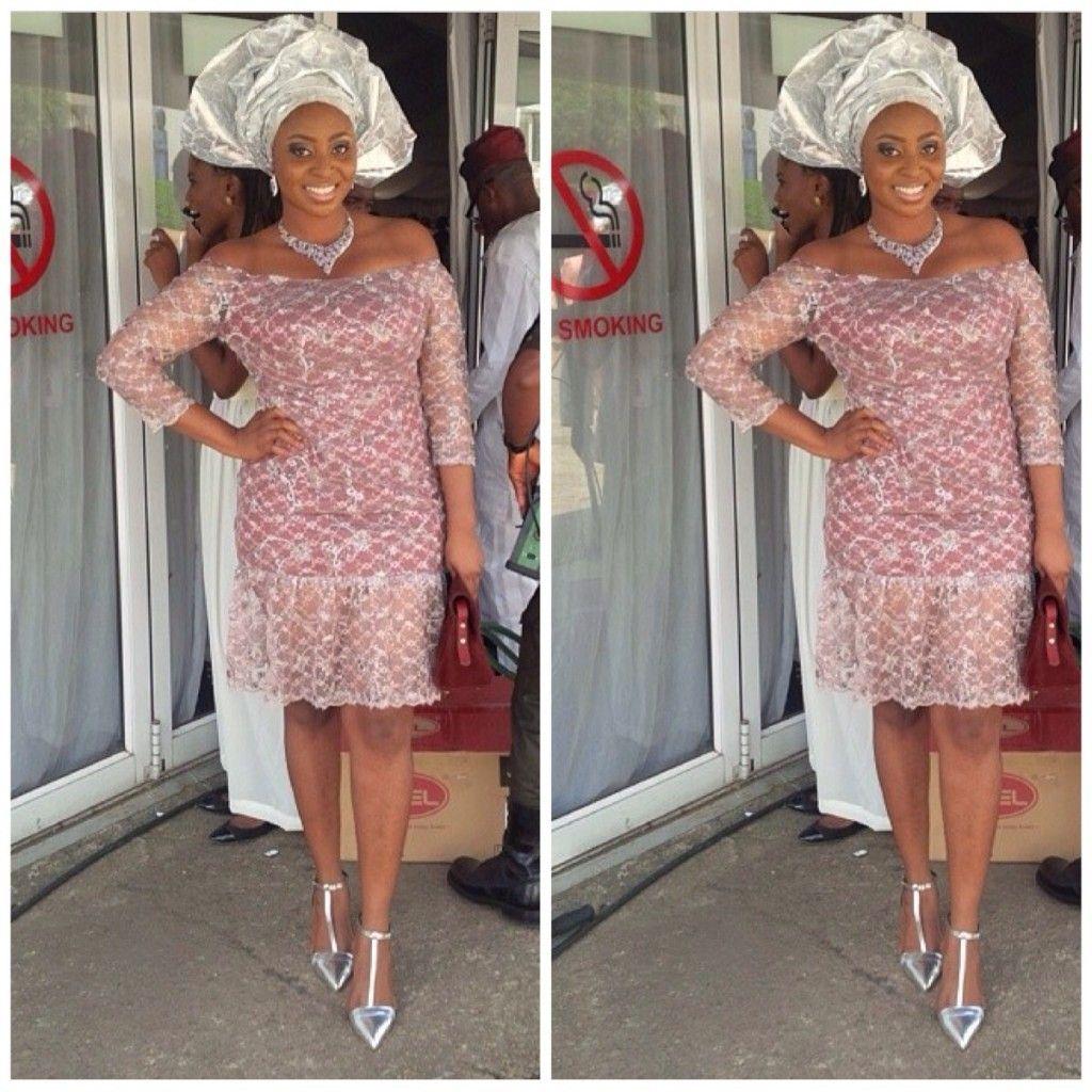 Ghana lace dress styles  WDNus Extravagant Delightful u Classy AsoEbi Collection  Wedding