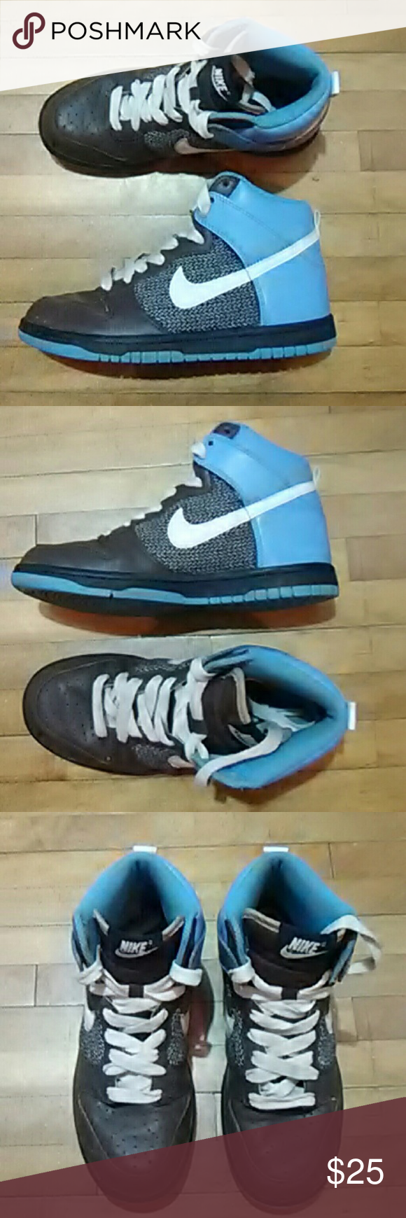uk availability d25e3 bd1c0 Nike dunks Great condition Nike Dunk hi top. It blue with brown on the toe