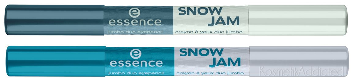 Essence SnowJam jumbo duo eyepencil  01 Let's hit the slope 02 Petrol snow-queen