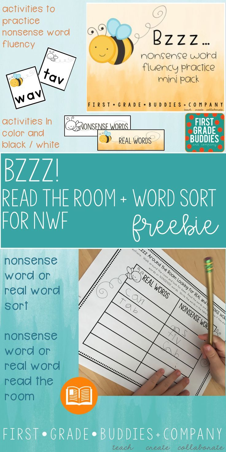 Nonsense Word Fluency Practice Activities - Use this FREE download ...