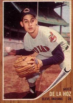 1962 Topps #123a Mike de la Hoz Front