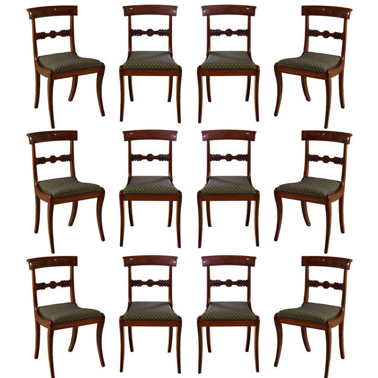 Set Of Twelve Neoclassical Dining Chairs For The Home Dining