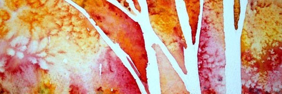 Texturas orgánicas de Acuarelas con sal