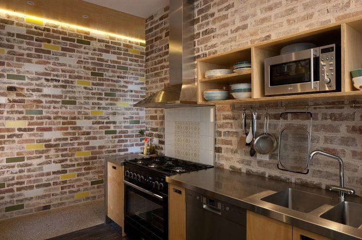 brick batu bata dinding dapur beda beda design interior