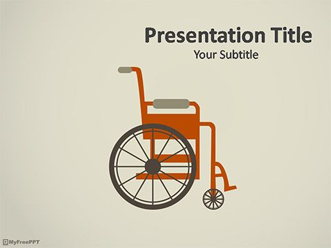 Wheelchair Powerpoint Template  Medical Template