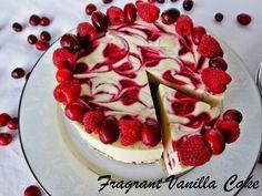 Raw Cranberry Raspberry White Chocolate Cake from Fragrant Vanilla Cake